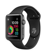 Apple Watch Series 2, 42 мм, Space Gray  with Black Sport Band  MP062